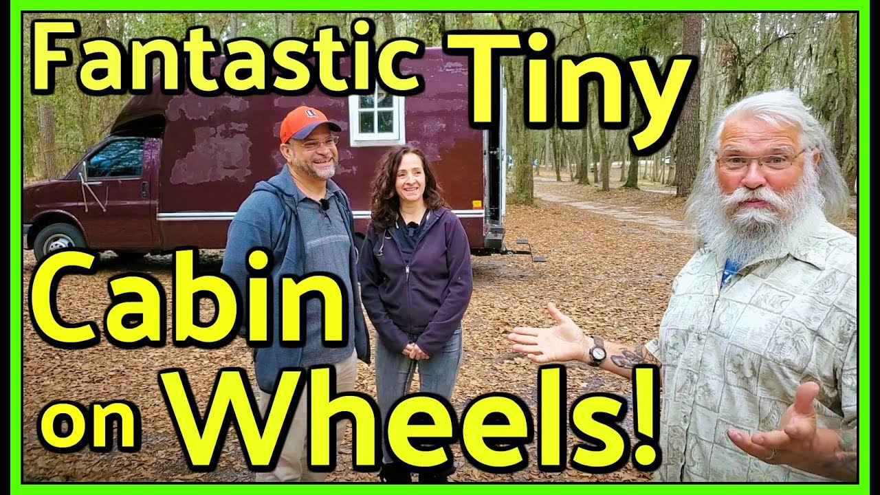 Fantastic Box-Van Converted into a Gorgeous & Rustic Tiny Cabin on Wheels
