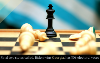 Final two states called, Biden wins Georgia, has 306 electoral votes