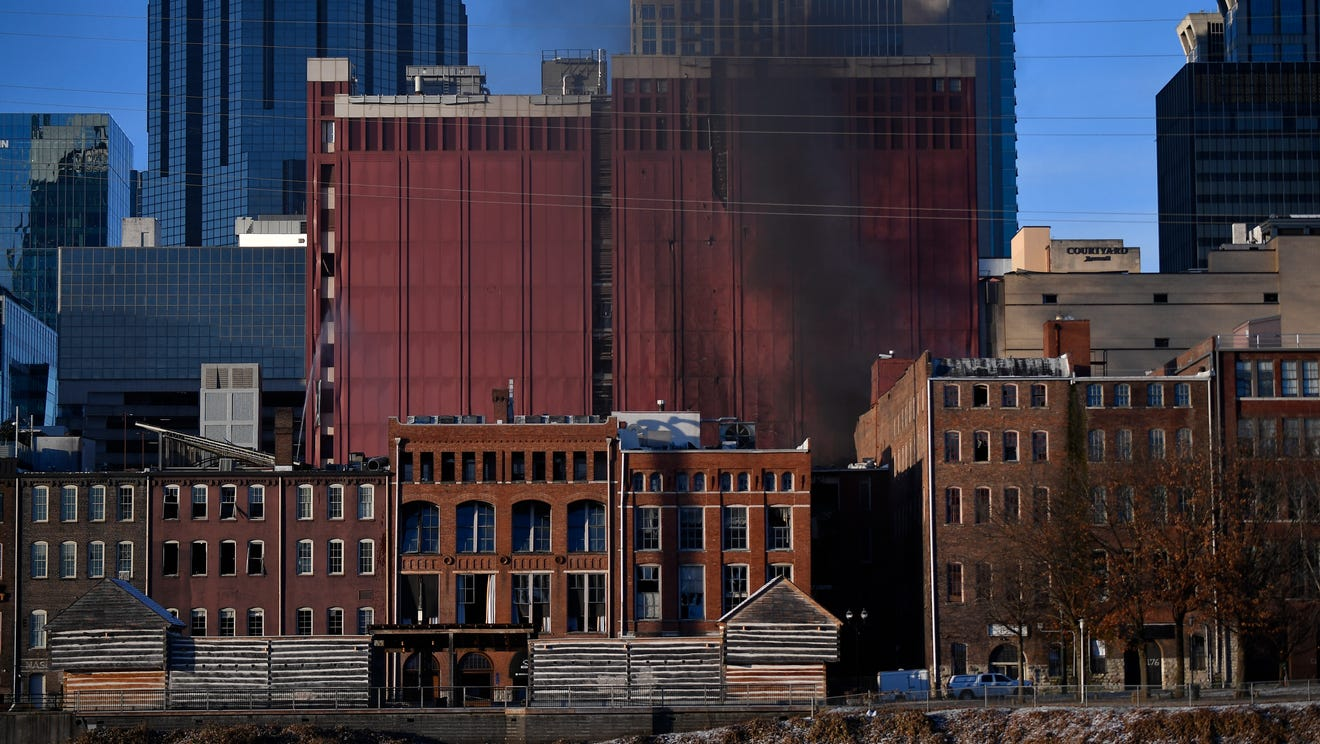 Explosion in downtown Nashville damages buildings Friday morning, injuries unknown