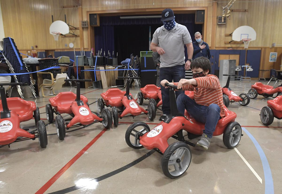 CSD gifted with 10 pumper cars for disabled students by Junction City business owner