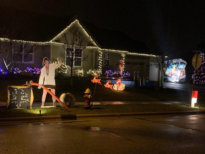 A Port Washington man turned his yard into a mini movie set of 'National Lampoon's Christmas Vacation'