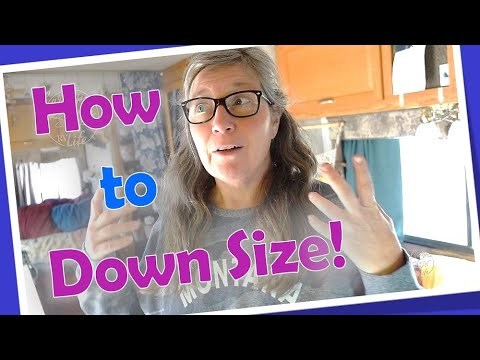 How to Get Rid of All Your Stuff to Move into an RV, Van, Tiny House or Downsized House//Minimalism