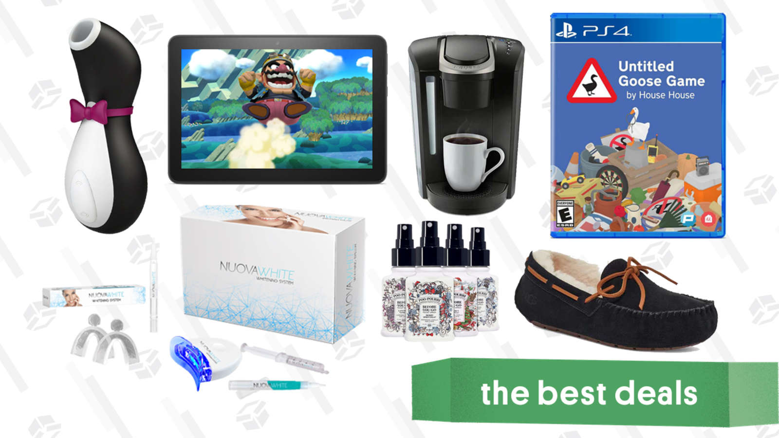 Friday's Best Deals: Amazon Fire HD 8 Tablet, 512GB MicroSD Card, UGG Slippers, Satisfyer Penguin, Keurig K-Select, Nuovawhite Teeth Whitening Kit, and More
