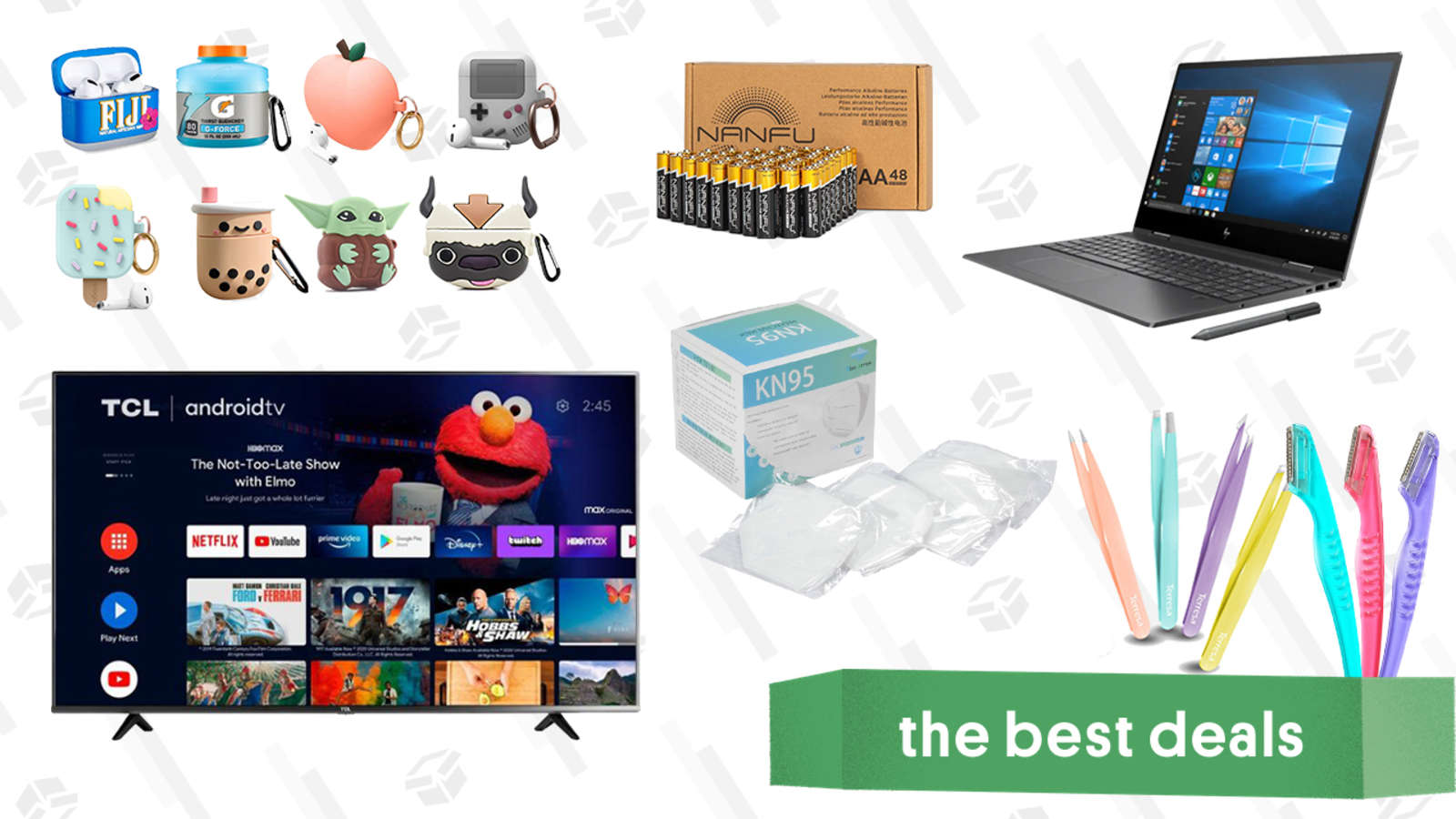 Saturday's Best Deals: HP Envy x360 Laptops, TCL 50-inch 4K Smart TV, AirPods Case Covers, 48-pack AA Batteries, KN95 Masks, and More