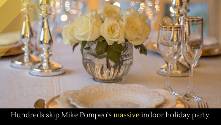 Hundreds skip Mike Pompeo's massive indoor holiday party