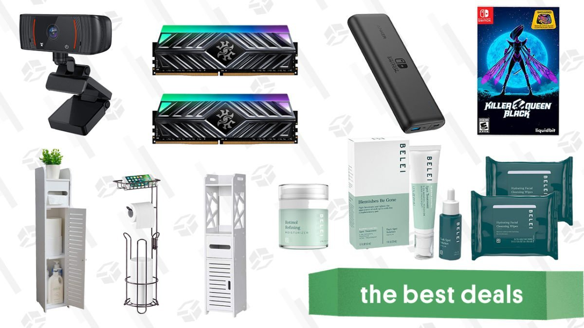 Monday's Best Deals: Belei Skincare Sale, 16GB DDR4 XPG RAM, 1080p Webcam, Bathroom Organizers, and More