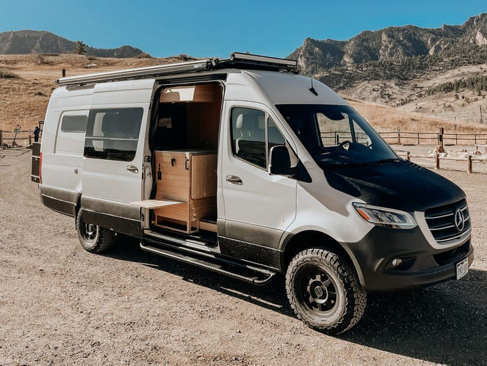 The maker of this $220,000 camper van says interest tripled during the pandemic and its waiting list now stretches into 2022