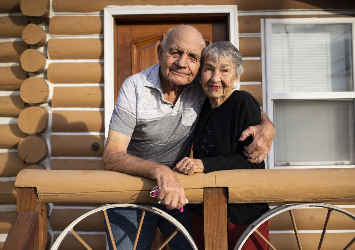 Couple will celebrate anniversary in log cabin home they married in nearly 70 years ago