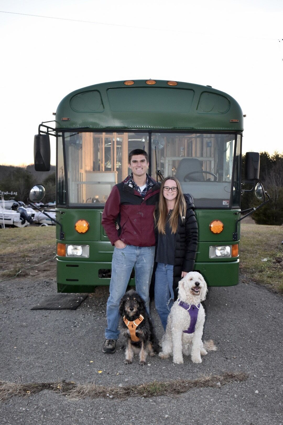 Lake couple prepares for life on the road in a remodeled school bus
