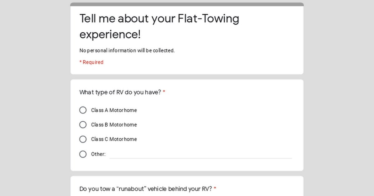 Flat-Towing and RVs