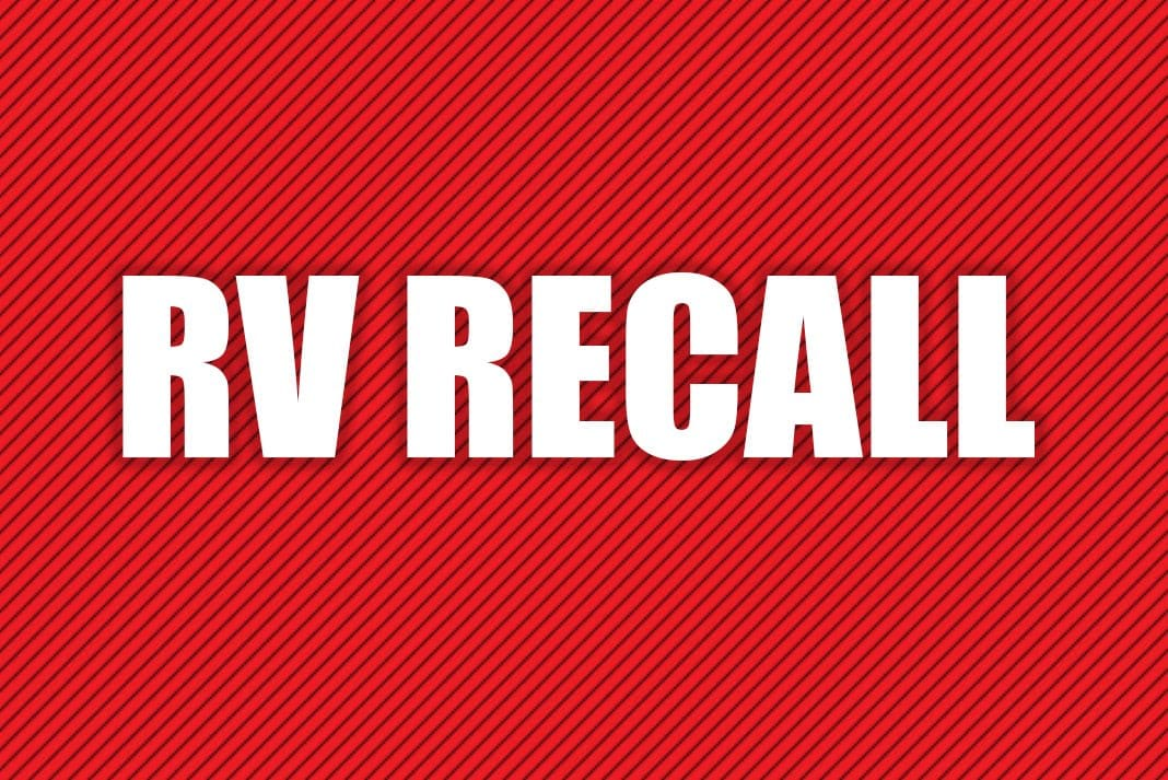 Most recent RV recalls