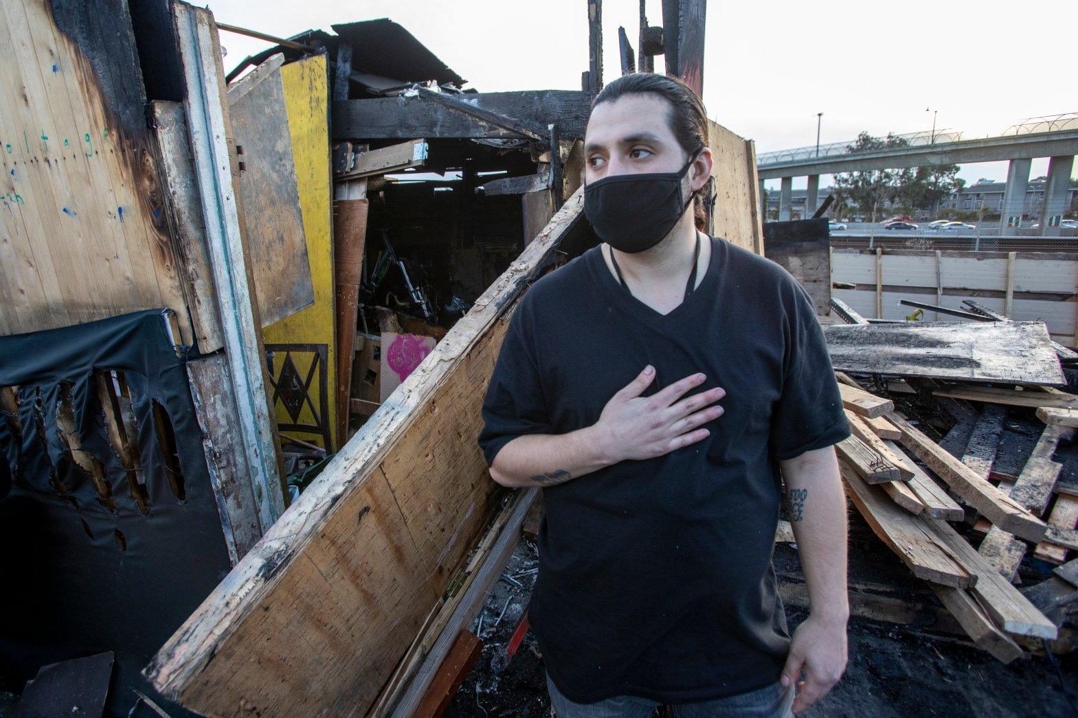 As Bay Area homeless camps grow, so does fire danger