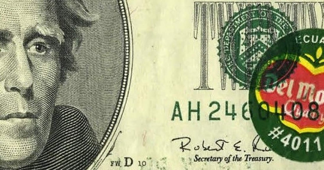 Fruity fact or fiction: $20 bill with a banana sticker