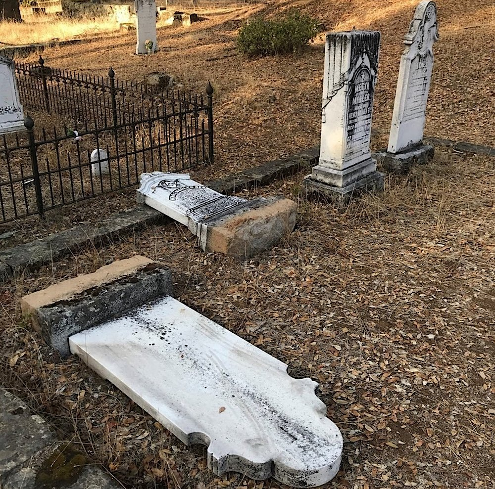 Historic California State Park pioneer cemetery vandalized