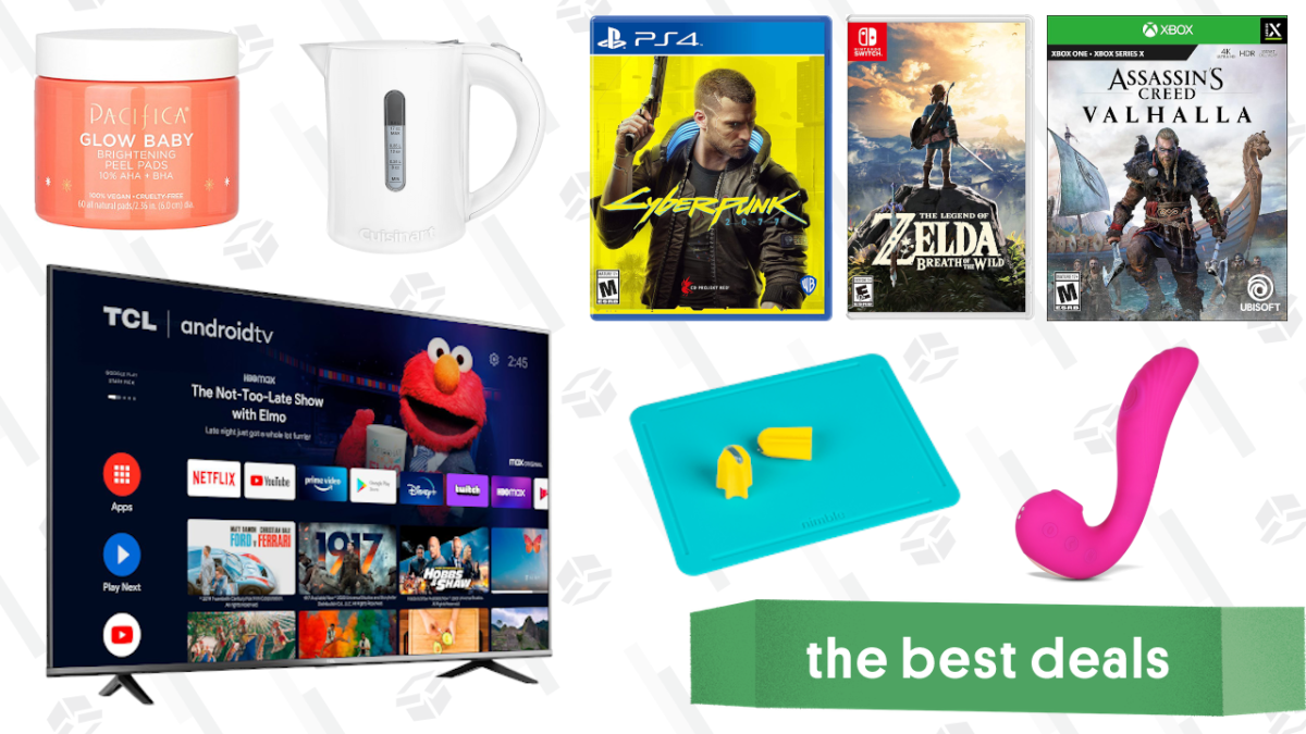 "Tuesday's Best Deals: Cyberpunk 2077, Pacifica Skincare, 55"" TCL 4K TV, Nintendo Switch Games, Cuisinart Electric QuicKettle, Go Wise 8-In-1 Air Fryer, and More"