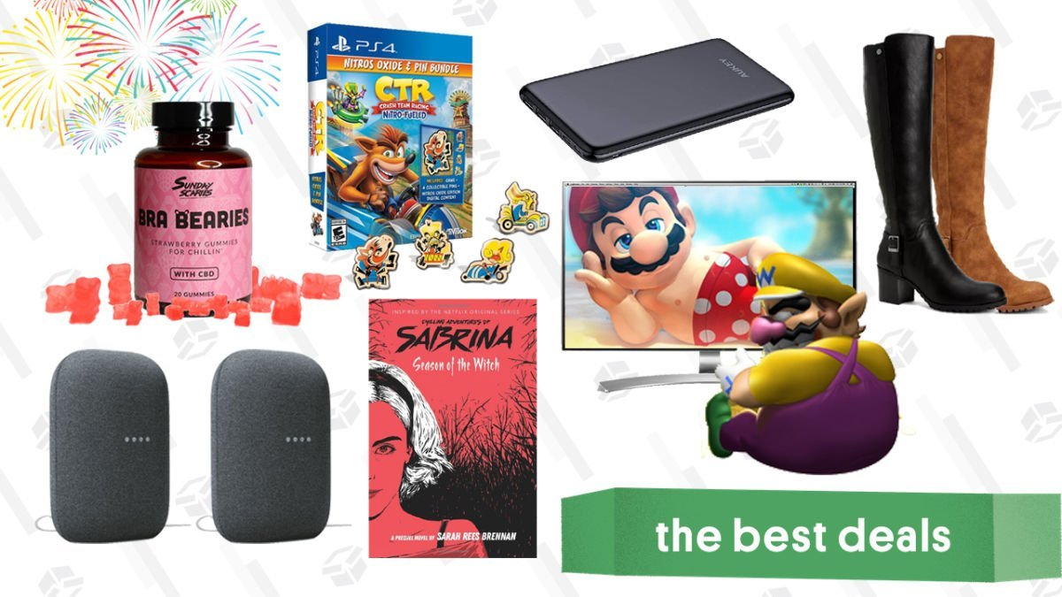 Friday's Best Deals: LG 4K Monitor, Google Nest Audio 2-Pack, Sunday Scaries CBD Gummies, Style & Co Dress Boots, Aukey Power Bank, and More