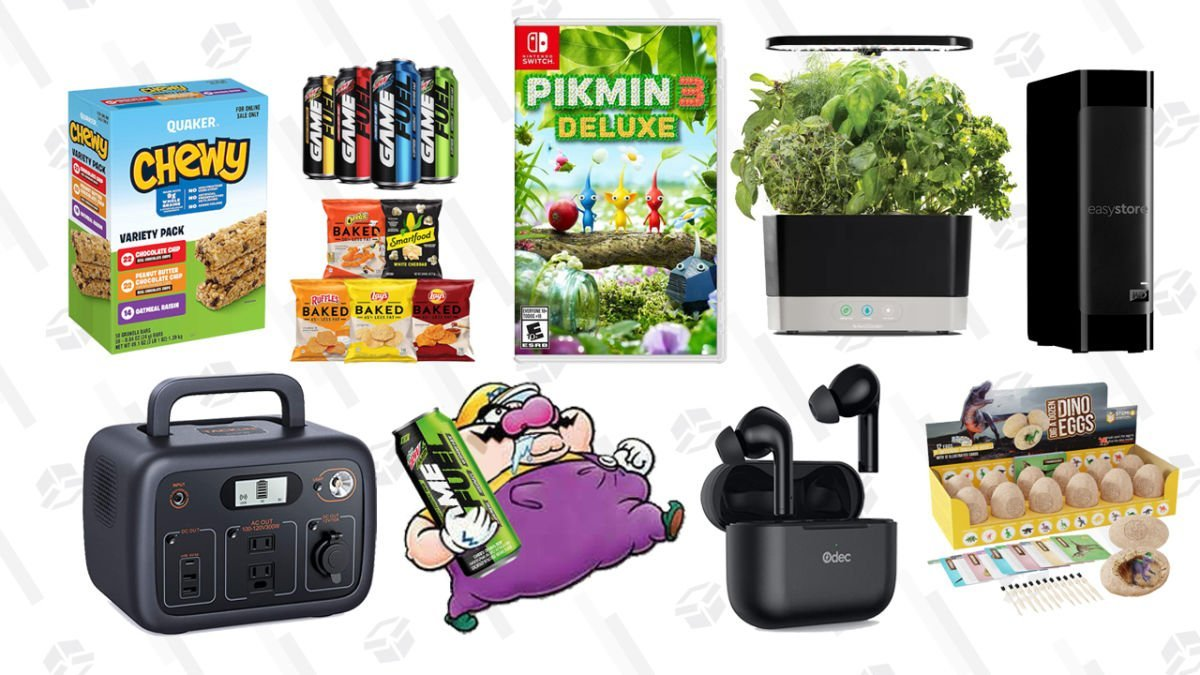 Wednesday's Best Deals: AeroGarden Harvest, Pikmin 3 Deluxe, Dino Egg Dig Kit, Tacklife Portable Power Station, and More