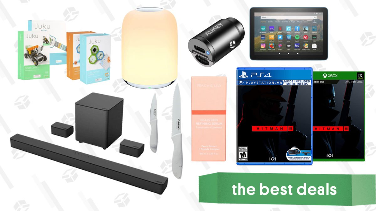 Wednesday's Best Deals: Fire HD 8 Tablet, Juku STEAM Coding Kits, Cuisinart Knife Set, Nintendo Switch Games, Aukey USB-C Car Charger, and More