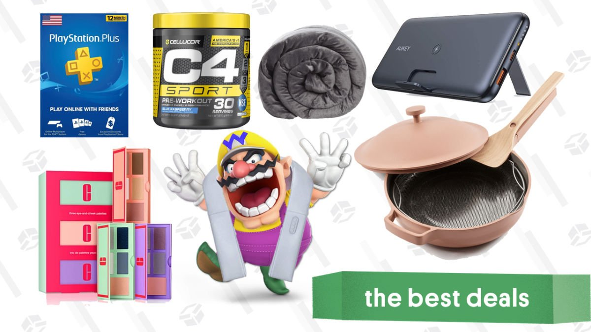 Thursday's Best Deals: Always Pan, Clinique Sets, Weighted Blanket, Apple iPad Air, Hompow Mini Projector, and More