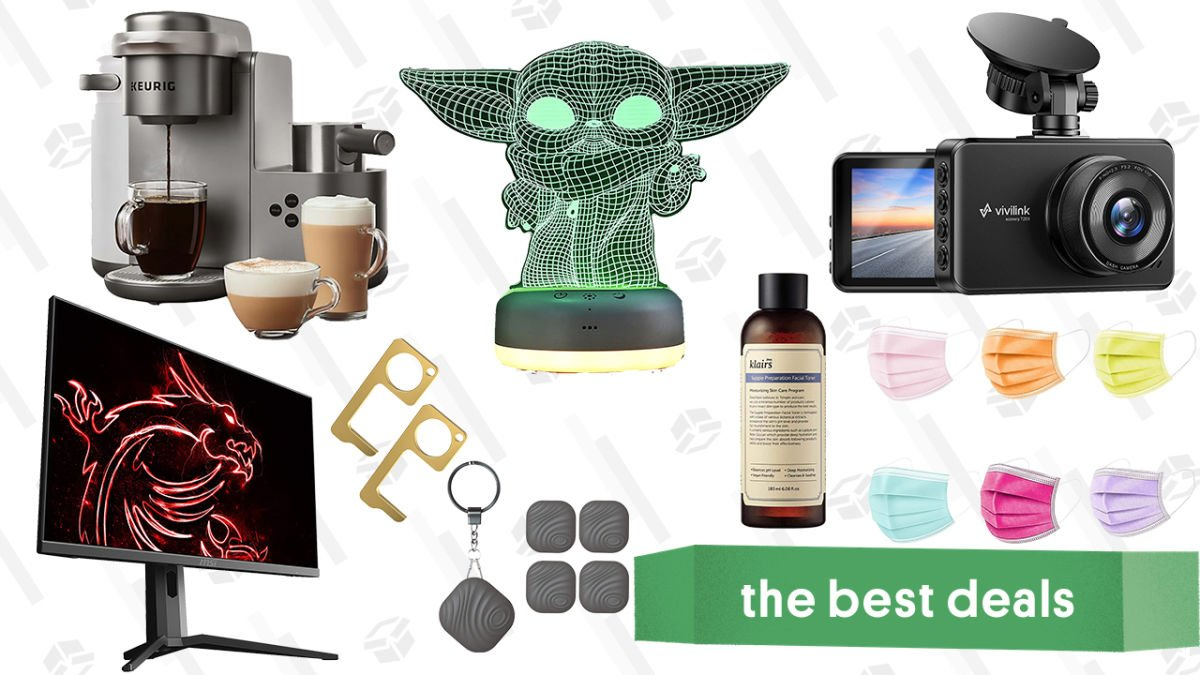 Sunday's Best Deals: MSI 27″ Gaming Monitor, ViviLink Dashcam, Star Wars Night Light, Nutale Findthing Trackers, Keurig Coffee & Latte Maker, Klairs Skincare, and More