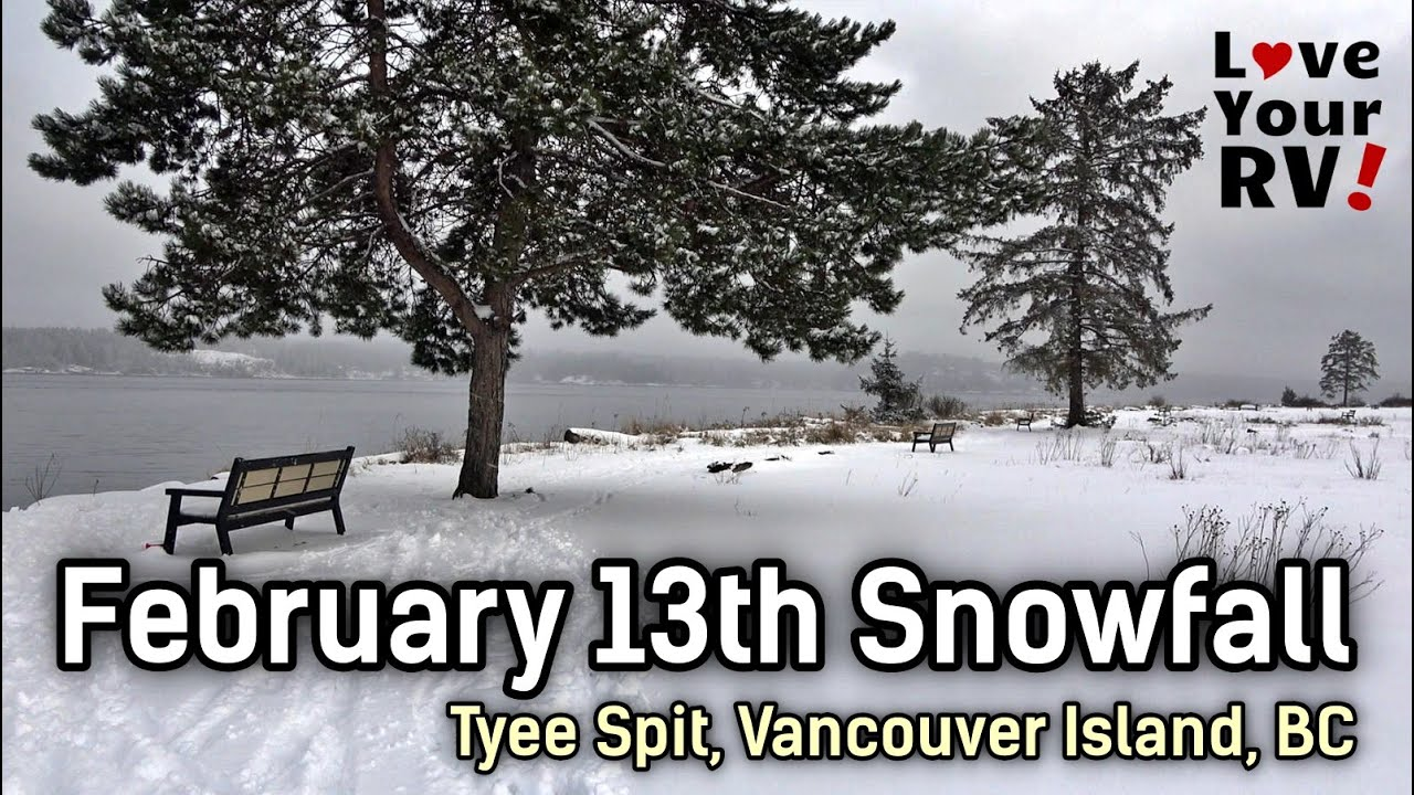 Walkabout Views after February Snowfall on Vancouver Island, BC | Tyee Spit Campbell River