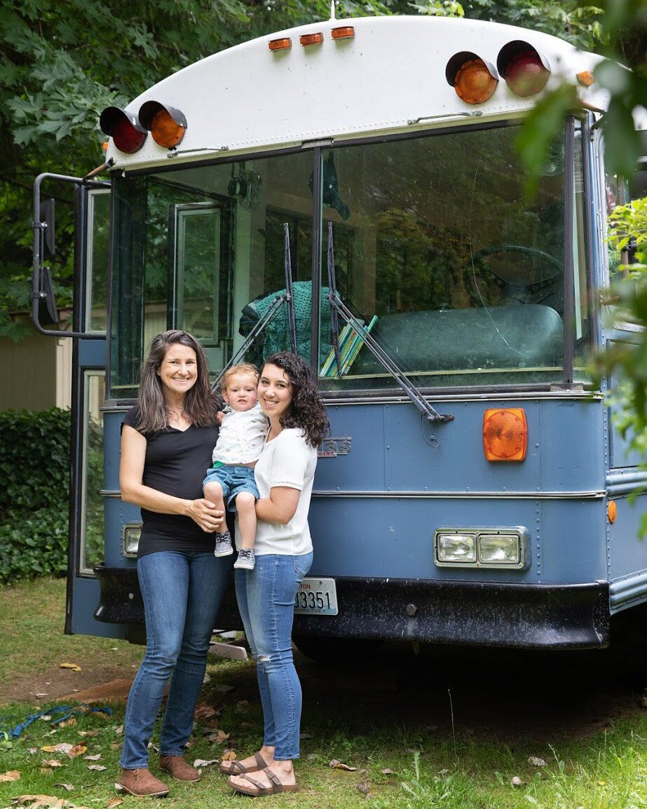 These 'Mamas' Transformed an Old School Bus Into a Home for Their Family of Four — See Inside!