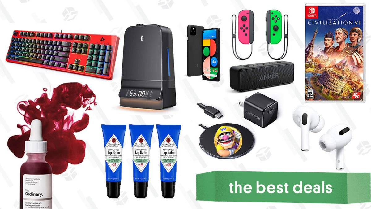 Tuesday's Best Deals: Google Pixel 4a 5G, Switch Joy-Cons, The Ordinary Peeling Solution, eufy RoboVac, Ultimate Ears Wonderboom, and More