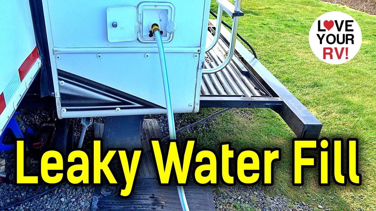 Major Leak - RV Fresh Water Tank Gravity Fill Line